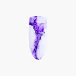zdobienia Marble Effect Violet Eclair