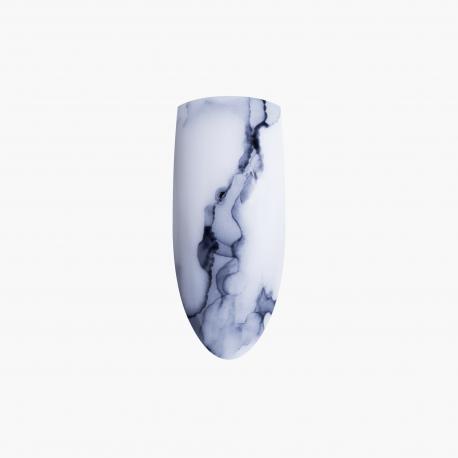 zdobienia Marble Effect Black Eclair