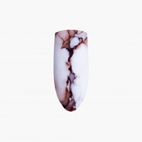 zdobienia Marble Effect Brown Eclair