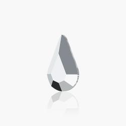 Swarovski Pear Light Grey DeLite