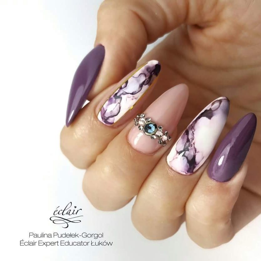 marble violet eclair