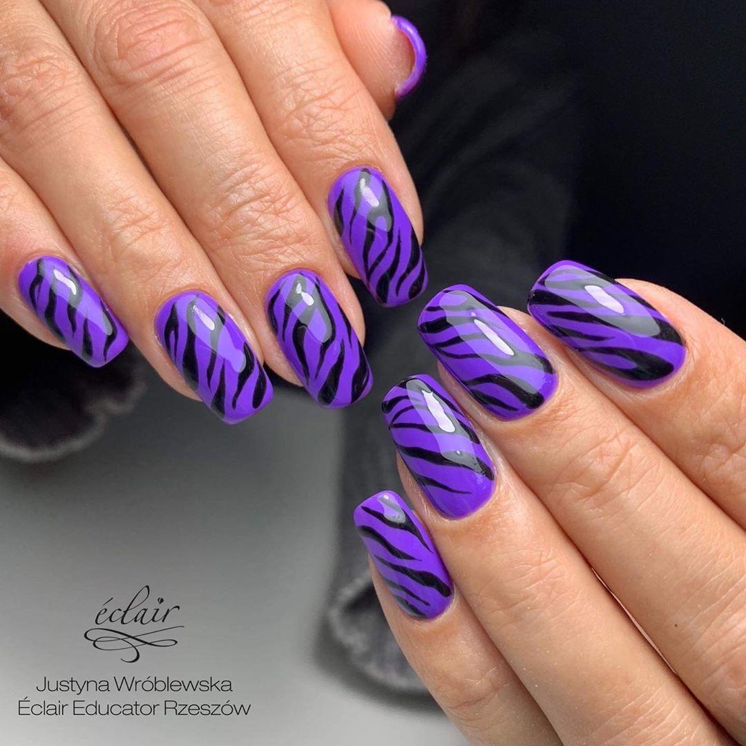 Lakier hybrydowy Purple Love Éclair