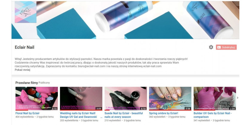 Eclair Nail na You Tube